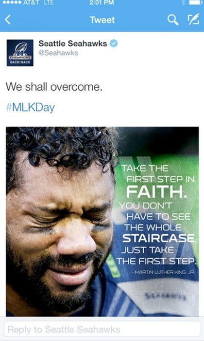 seattle seahawks,twitter,sports,facepalm,MLK,martin luther king jr