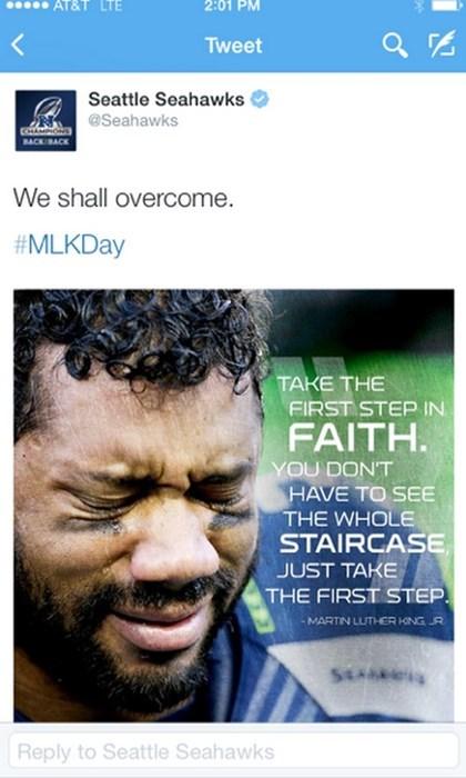 seattle seahawks twitter sports facepalm MLK martin luther king jr - 8431091712
