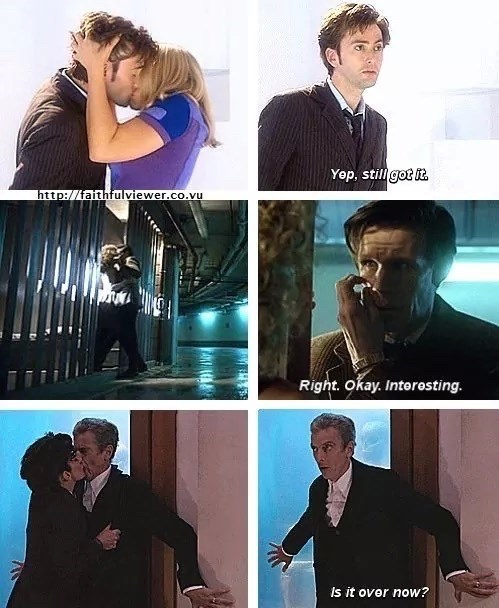 the doctor,kissing,regeneration