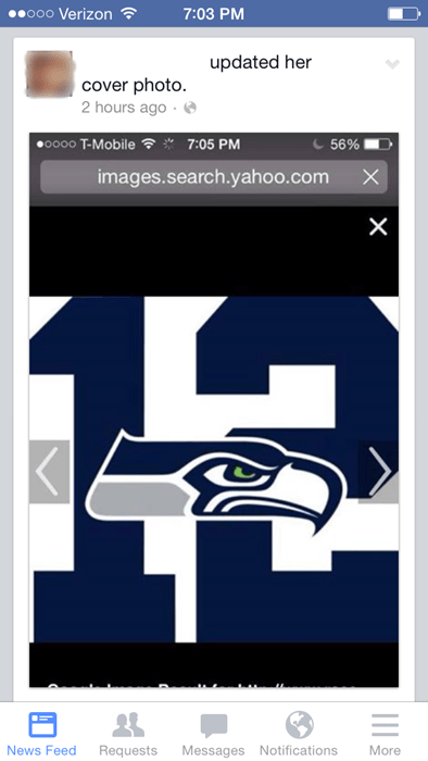 seattle seahawks sports facepalm profile pic - 8431258880