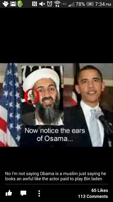 conspiracy facepalm Osama Bin Laden barack obama failbook g rated - 8431261696
