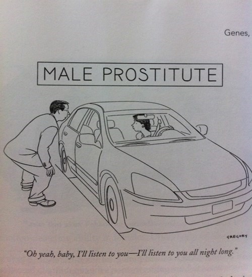 male prostitute loves to listen