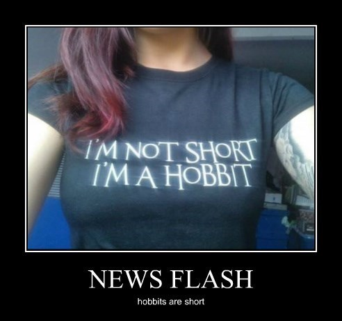 news flash funny hobbit short - 8431367680