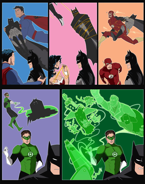 justice league,batman,Green lantern