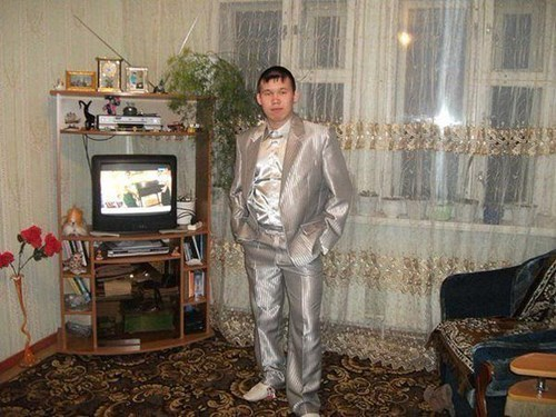 fancy poorly dressed shiny suit - 8431799296
