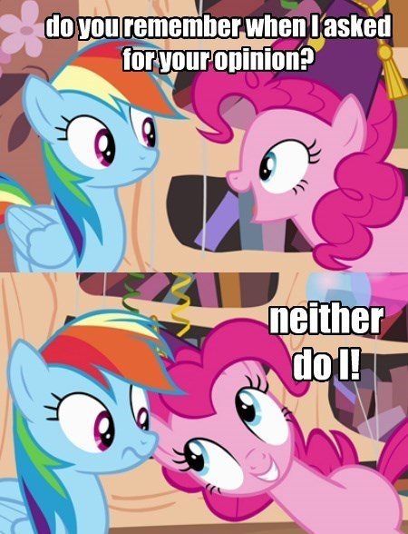pinkie pie keep it to yourself rainbow dash - 8431921664
