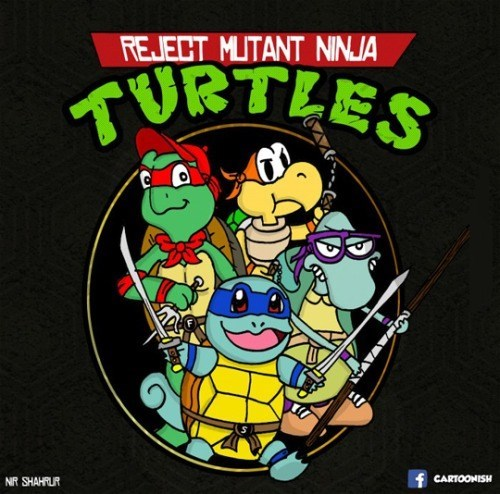 TMNT turtles rejected cartoons