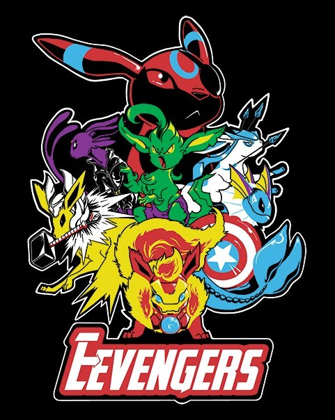 Pokémon,Fan Art,eeveelutions,superheroes