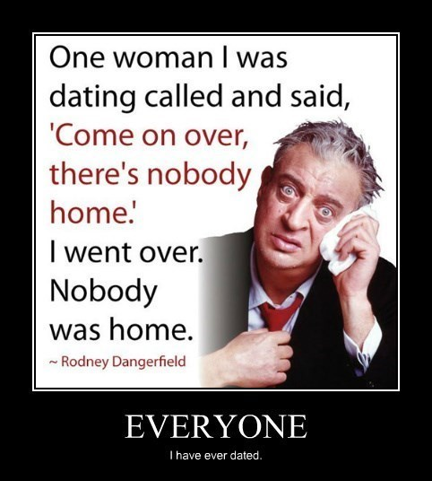 girlfriends Rodney Dangerfield quote funny - 8431984384