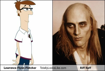 Lawrence Flynn-Fletcher Totally Looks Like Riff Raff