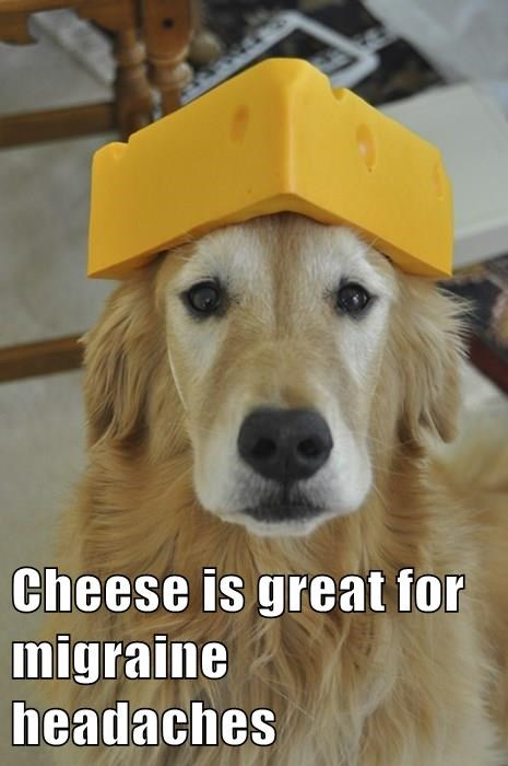 Cheese is great for migraine headaches