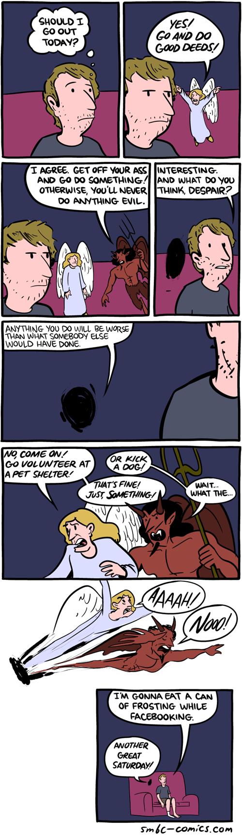 devils apathy deeds angels sad but true web comics