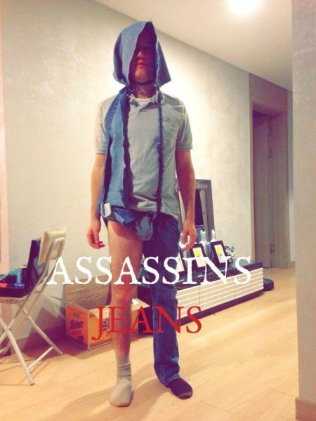 jeans hood poorly dressed assassins creed - 8432580096