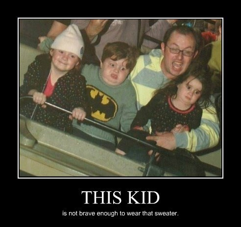 kids,scared,sweater,batman,funny