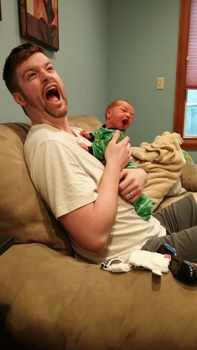 baby yelling parenting dad crying - 8432674560