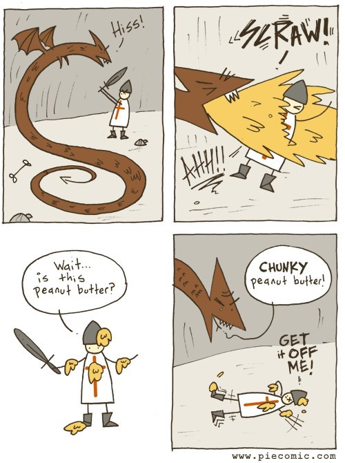 peanut butter,dragons,web comics,monster