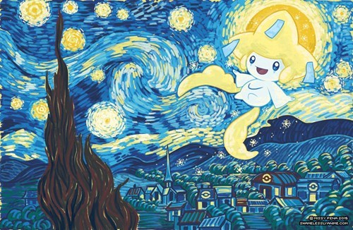 Pokémon Fan Art starry night jirachi - 8432711936