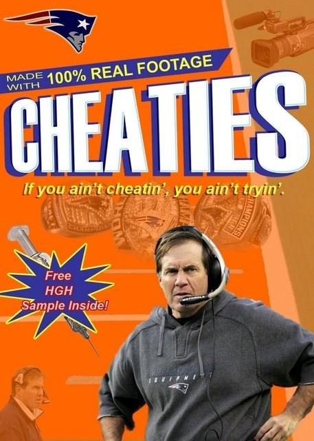 Bill Belichick wheaties deflategate cheaties - 8432738048