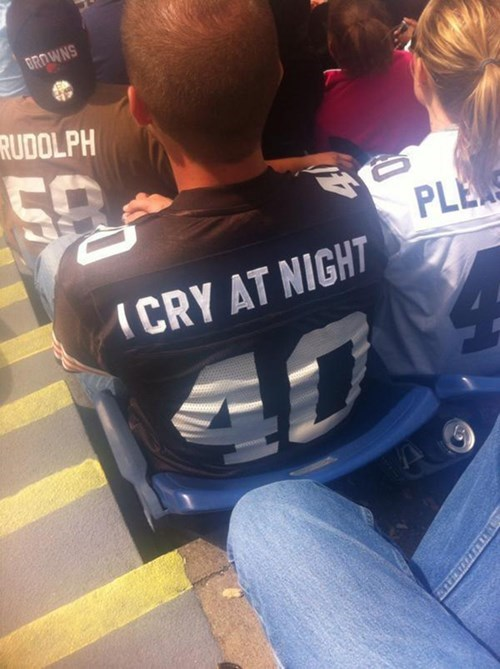 football cleveland browns nfl i cry at night - 8432740608