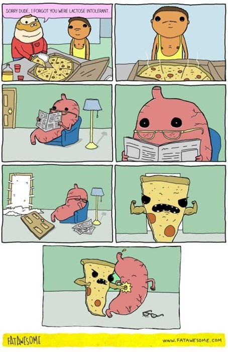 sad but true,punching,pizza,lactose intolerant,web comics
