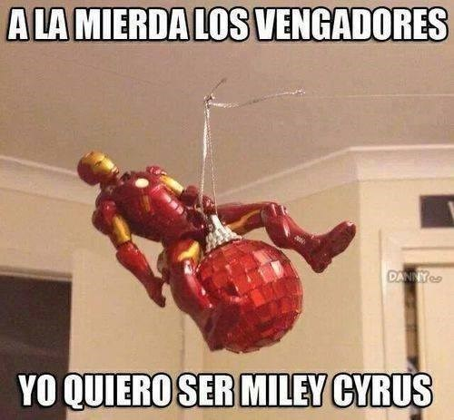 Miley y Iron Man
