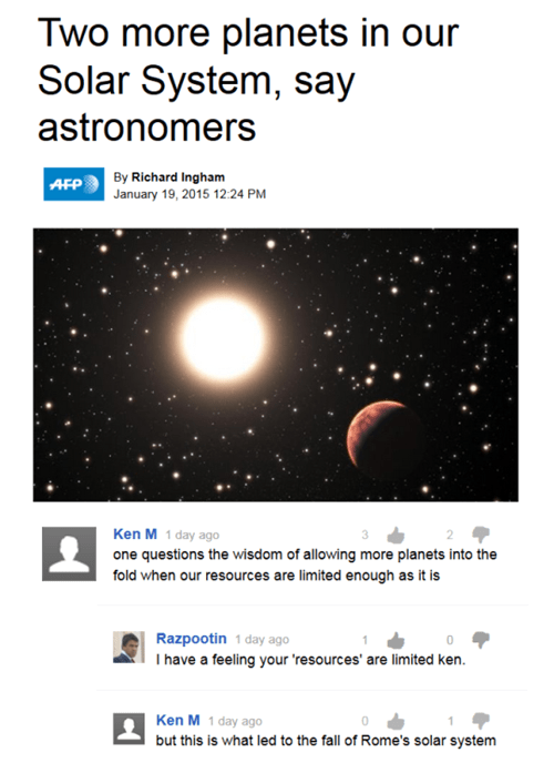 ken m Astronomy solar system