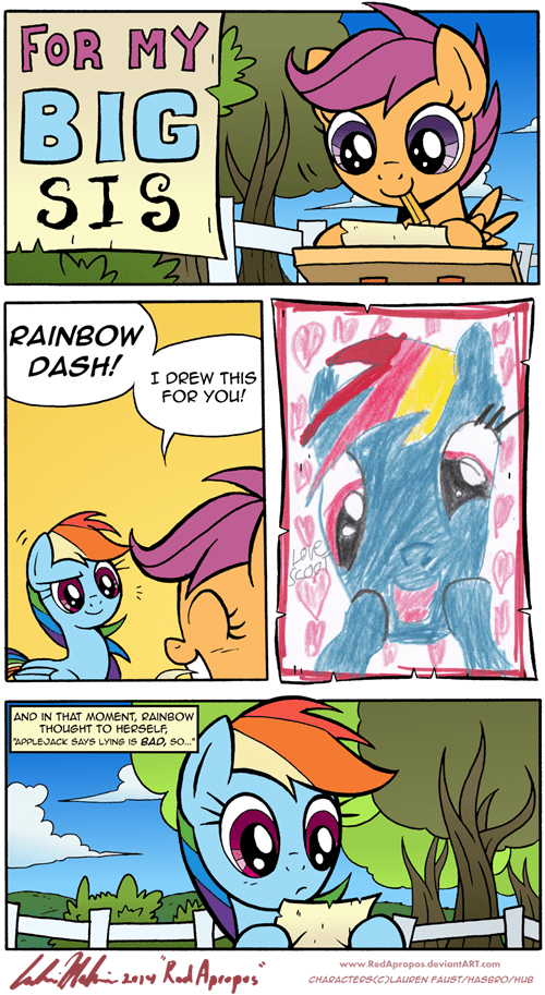 honesty Scootaloo rainbow dash harsh