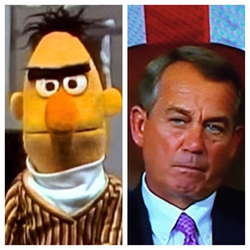 john boehner muppets totally looks like Sesame Street politics fail nation g rated - 8432866304