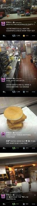 twitter,McDonald's,free stuff