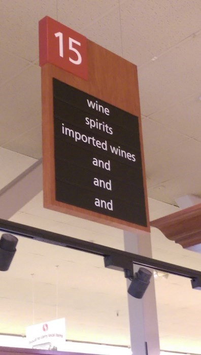 monday thru friday,suspense,sign,grocery store