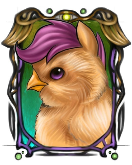 chicken portrait Scootaloo - 8433417728