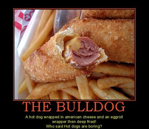 bulldog hotdogs funny - 8433429248