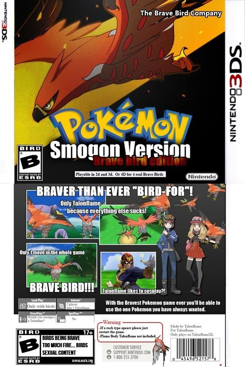 smogon Pokémon talonflame brave bird - 8433542912
