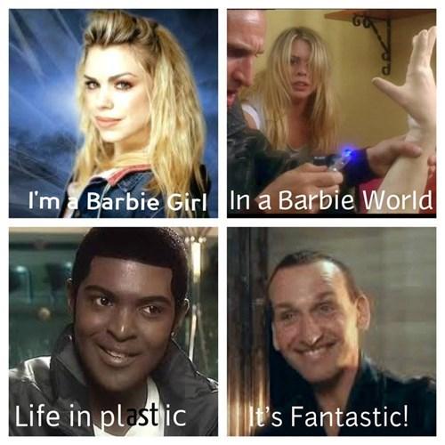 aqua,barbie girl,doctor who,9th doctor