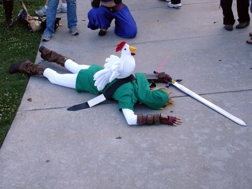 link,cosplay,legend of zelda,cucco