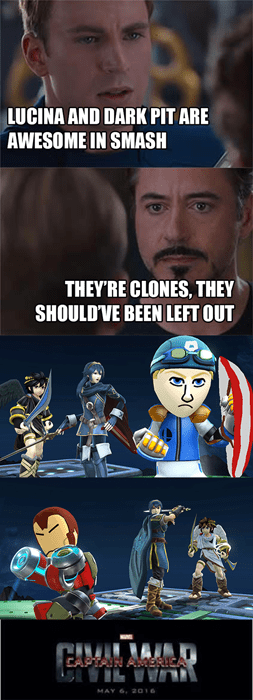 super smash bros Memes civil war avengers - 8433582592