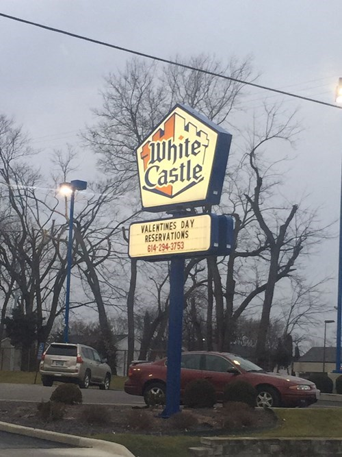 white castle is taking valentine's reservations