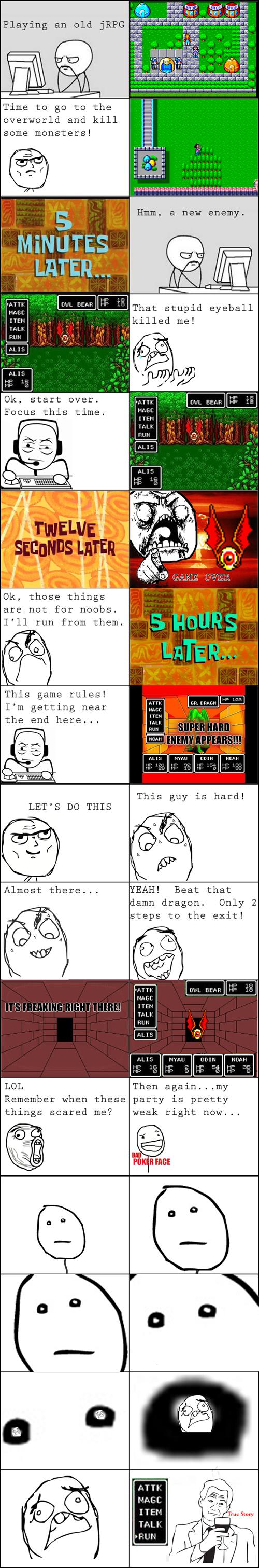 gaming,JRPGs,Rage Comics