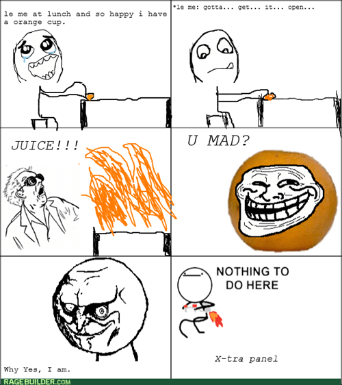 orange rage trollface lunch - 8434200832