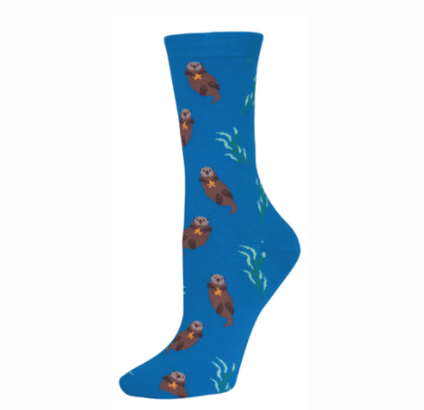 poorly dressed socks cute otter - 8434272768