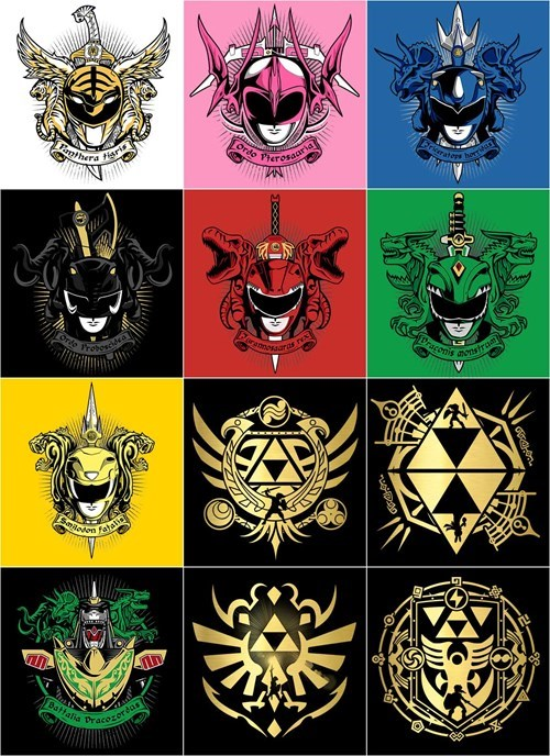 power rangers,legend of zelda,tshirts