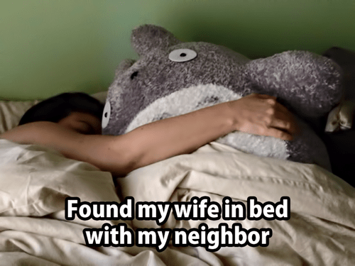wife in bed with my neighbor totoro