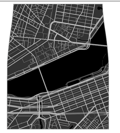 custom map poorly dressed skirt - 8434479872