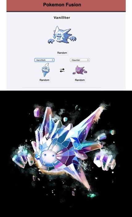 haunter Pokémon pokemon fusion vanillite - 8434519296