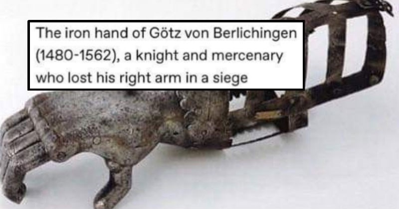 story behind iron hand of a knight