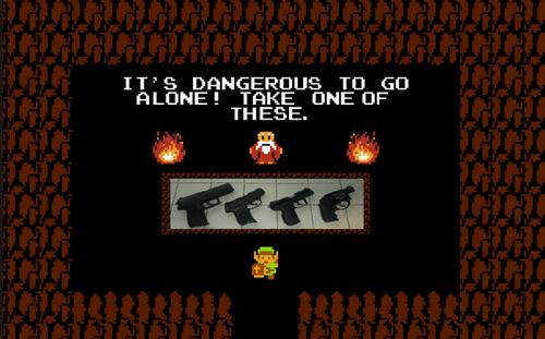 its dangerous to go alone guns the legend of zelda - 8435070720