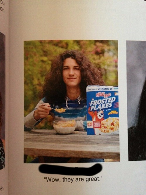 frosted flakes yearbook photo