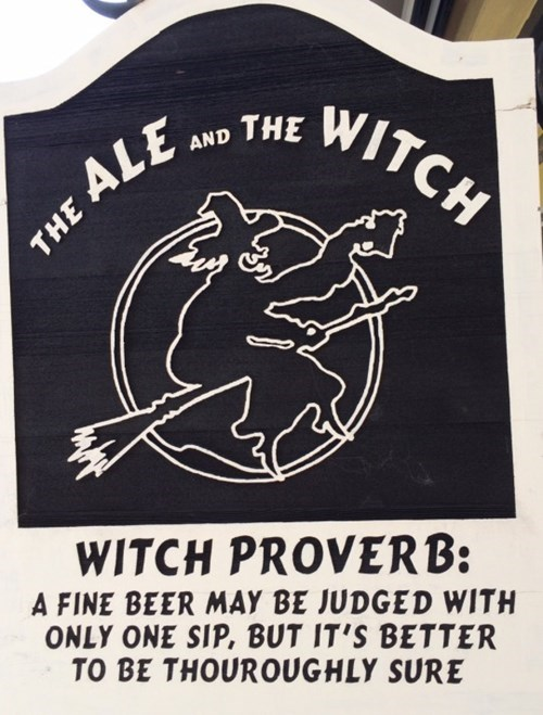 sign with a witch proverb