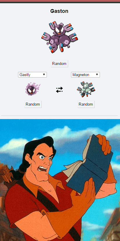 Gaston,Pokémon,pokemon fusion