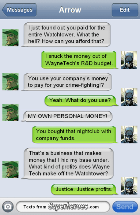 green arrow,batman,business